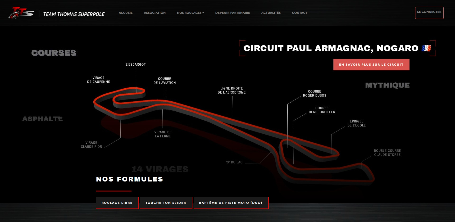 Page d'accueil du site internet TT superpole