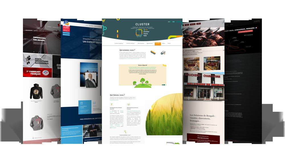 Visuel des créations de sites web par l'agence Webdesign Graphiste de Toulouse