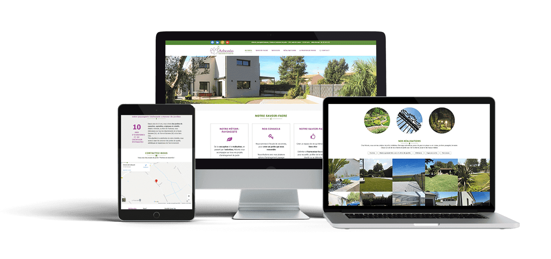 Site web responsive d'Arboreo