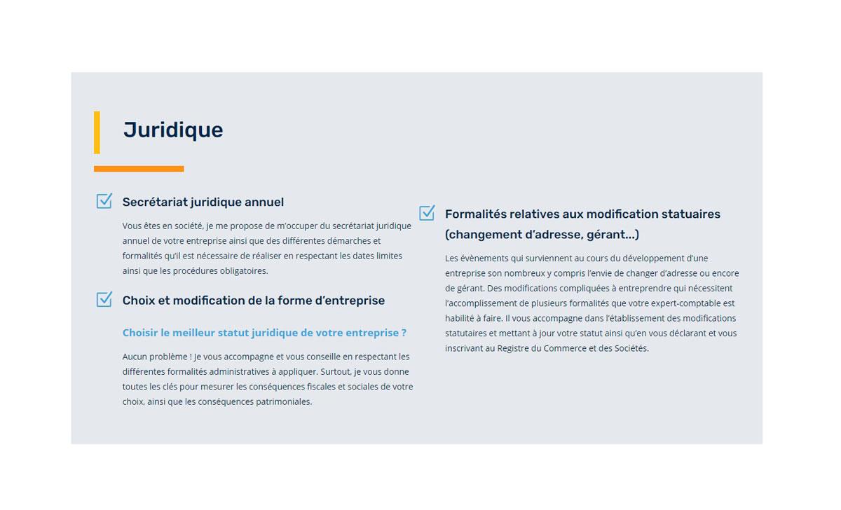 Rédaction de contenu pour site internet d'expert comptable