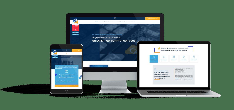 Site web pour un expert comptable