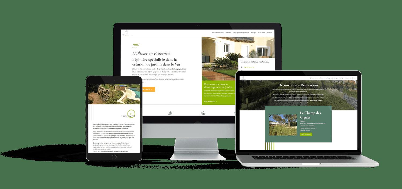 Site web responsive pour l'olivier en provence
