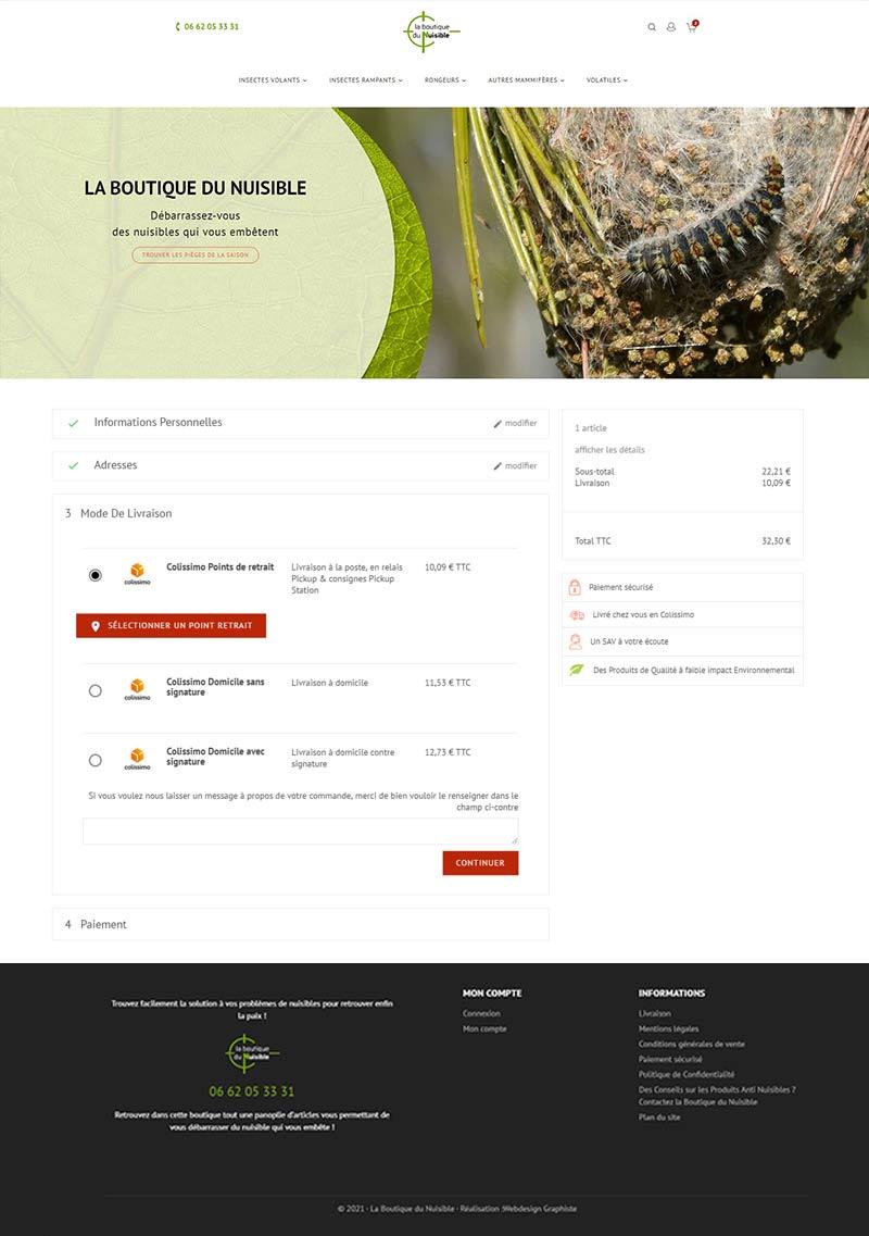 sitet e commerce page de commande