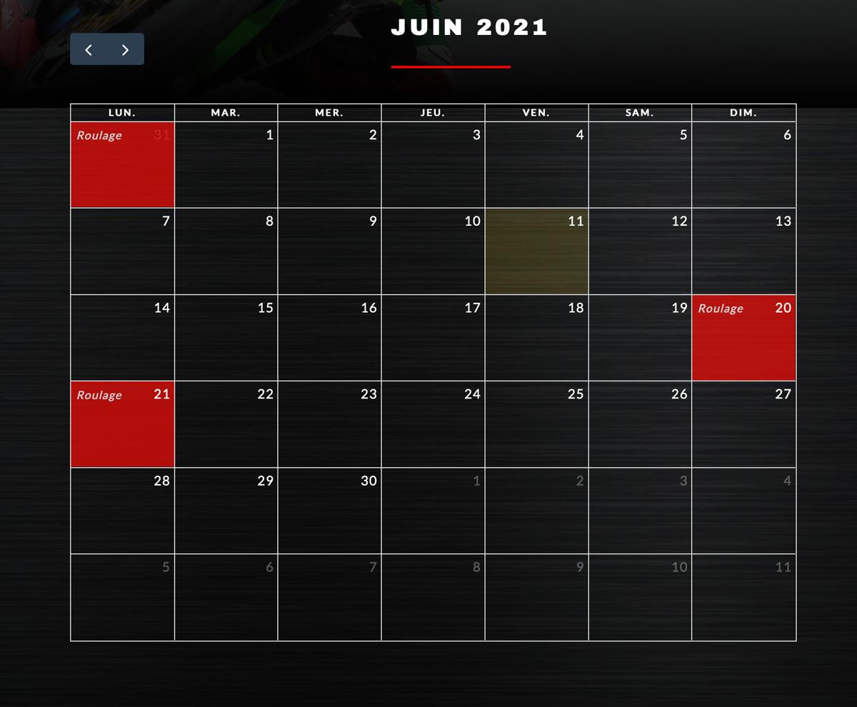 développement web d'un calendrier de réservation